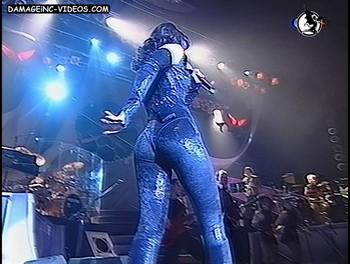 Natalia Oreiro hot ass in latex leggings